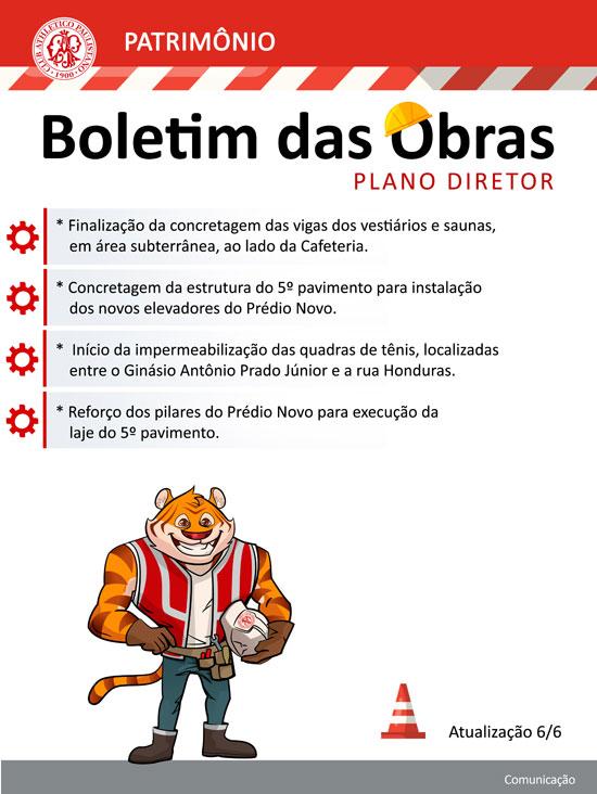 Clube Paulistano - Plano Diretor Boletim das obras