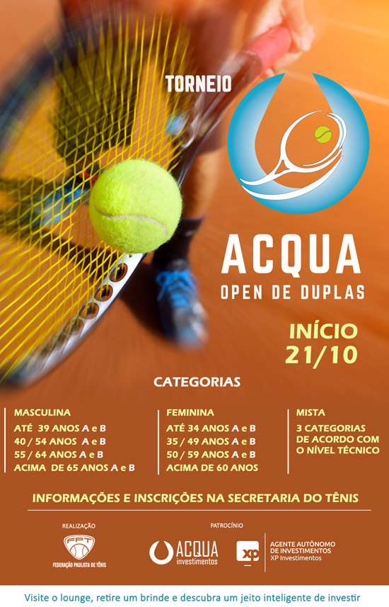 Clube Paulistano - Torneio-Acqua-Open-de-Duplas