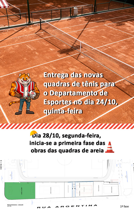Clube-Paulistano - Quadras de tênis e areia