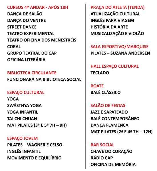 Clube Paulistano - Remanejamento-Cursos-Cultural