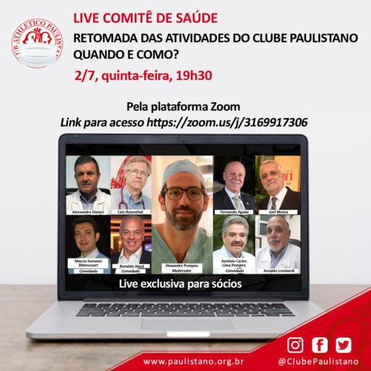 Clube Paulistano - Live Comitê Saúde